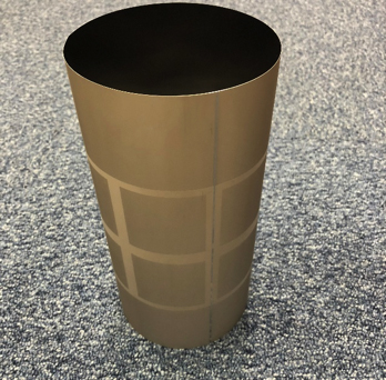 With this cylinder the customer can transfer patterns on a film accurately and continuously.